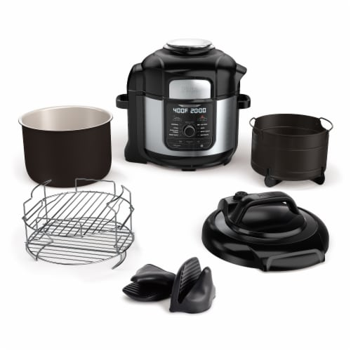 Ninja® Foodi 9 in 1 Deluxe XL Pressure Cooker & Air Fryer Perspective: left