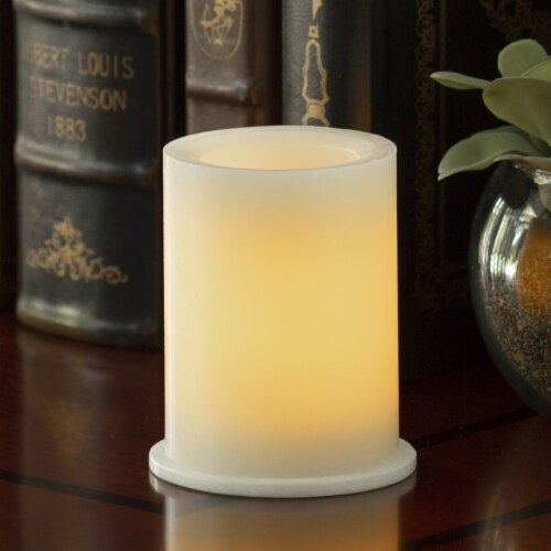 Inglow Flameless LED Unscented Pillar Candle - Cream Perspective: left