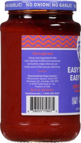 Fody Foods Gluten Free Arrabbiata Pasta Sauce Perspective: left