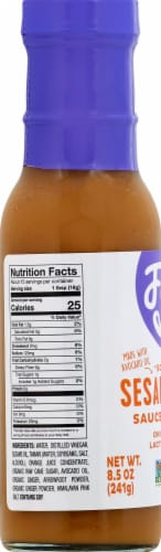 Fody Foods Sesame Ginger Sauce and Marinade Perspective: left