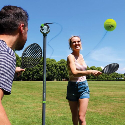 Viva Active Ultimate 2 in 1 Swingball and Tetherball Set with Paddles Included Perspective: left
