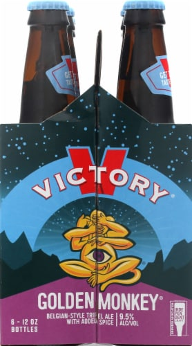 Victory Brewing Company Golden Monkey Ale Beer Perspective: left