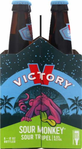 Brewing Victory Company Sour Monkey Beer Perspective: left