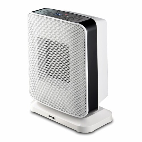 Portable Oscillation Ceramic Heater with Thermostat and LED Perspective: left