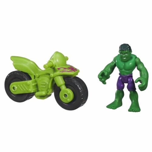 Hasbro Marvel Super Hero Adventures Hulk Action Figure Perspective: left
