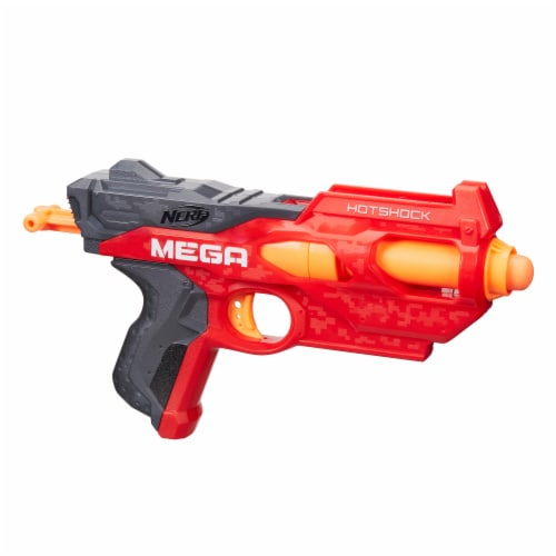 Nerf N-Strike Mega HotShock Blaster - Red/Gray Perspective: left