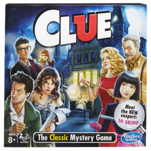 Hasbro Clue Board Game Perspective: left