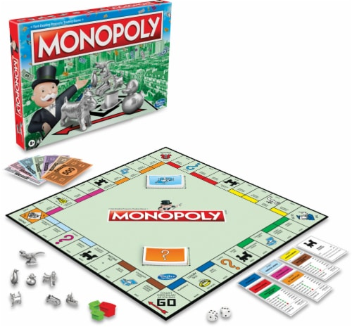 Hasbro Gaming Monopoly Classic Board Game Perspective: left