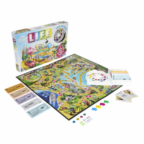 Hasbro Gaming The Game of Life Board Game Perspective: left