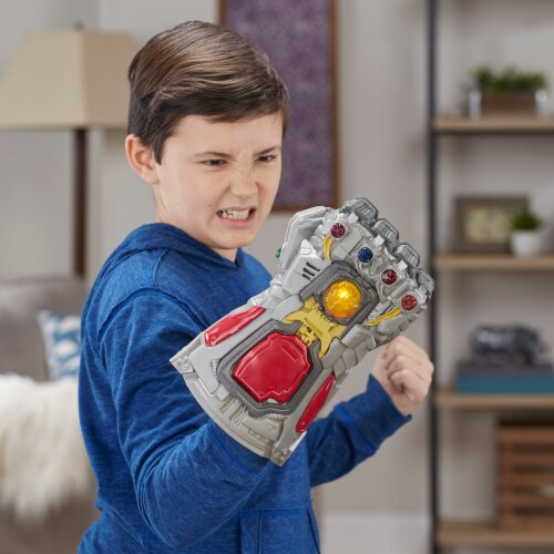 Avengers Marvel Endgame Electronic Fist Roleplay Toy with Lights & Sounds Perspective: left