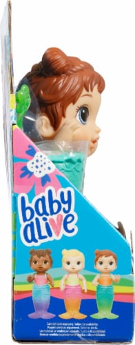 Hasbro Baby Alive Lil' Splashes Brown Hair Mermaid Doll Perspective: left