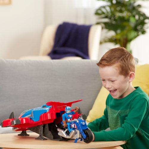 Hasbro Playskool Marvel Super Hero Adventures Spider-Man Jetquarters Toy Perspective: left