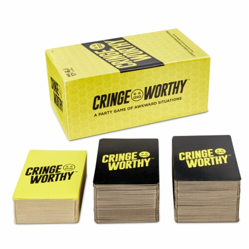 Hasbro Cringeworthy Adult Party Card Game Perspective: left