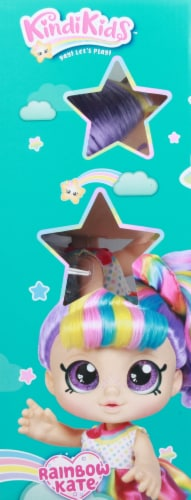 Kindi Kids Snacktime Friends Rainbow Kate Doll Perspective: left