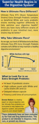 Renew Life Ultimate Flora Extra Strength Probiotic Perspective: left