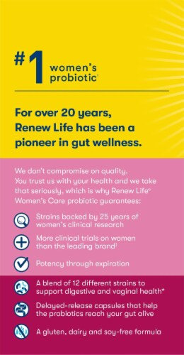 Renew Life Ultimate Flora Women's Care Probiotic Perspective: left