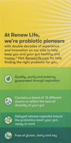 Renew Life® Ultimate Flora™ Probiotic Adult 50+ Probiotic Supplement Vegetarian Capsules Perspective: left