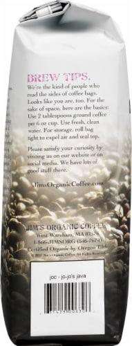 Jim's Organic Coffee Jo-Jo's Java Medium Light Roast Whole Bean Coffee Perspective: left