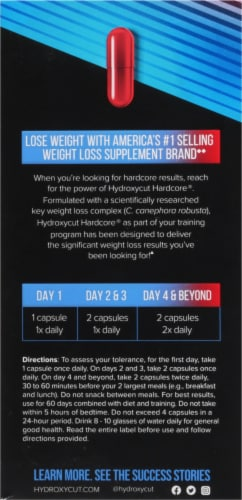 Hydroxycut Hardcore Rapid-Release Dietary Supplement Capsules 60 Count Perspective: left