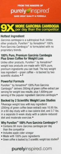 Purely Inspired Garcinia Cambogia Weight Loss Caplets Perspective: left