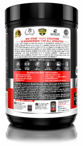Six Star Elite Series 100% Creatine Unflabored Dietary Supplement Perspective: left