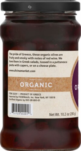 Divina  Organic Kalamata Pitted Olives Perspective: left