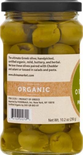 Divina Organic Pitted Green Olives Perspective: left