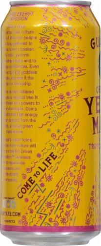 Guayaki Yerba Mate Organic Tropical Uprising Energy Drink Perspective: left