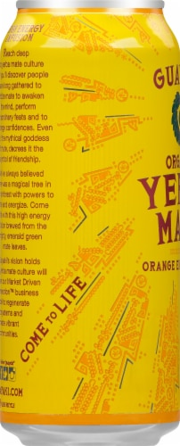 Guayaki Organic Orange Exuberance Yerba Mate Perspective: left