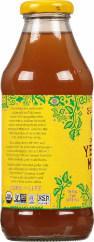 Guayaki Yerba Mate Empower Mint Dietary Supplement Perspective: left