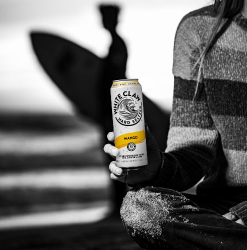 White Claw Mango Spiked Seltzer Perspective: left