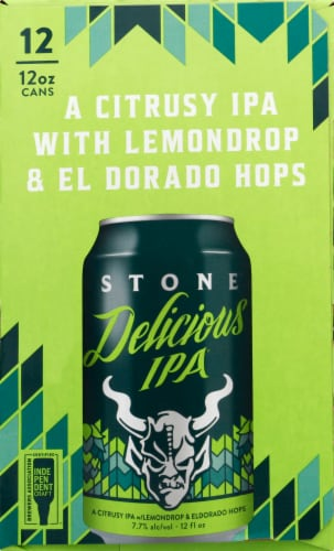 Stone Brewing Co. Delicious IPA Perspective: left