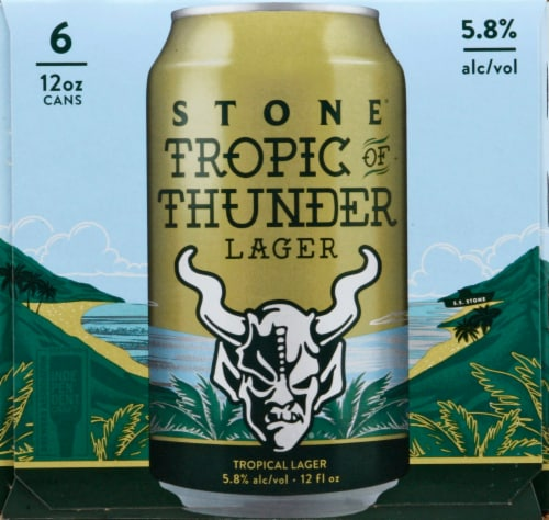 Stone Brewing Co Tropic of Thunder Lager Perspective: left