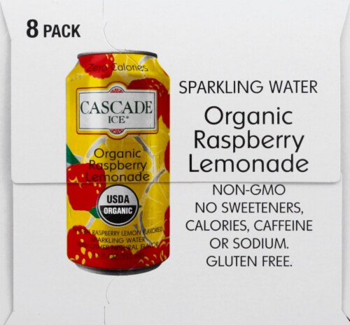 Cascade Ice Organic Raspberry Lemonade Sparkling Water Perspective: left
