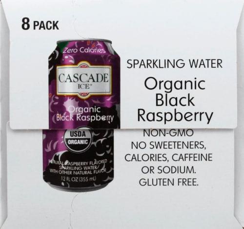 Cascade Ice Organic Black Raspberry Sparkling Water Perspective: left