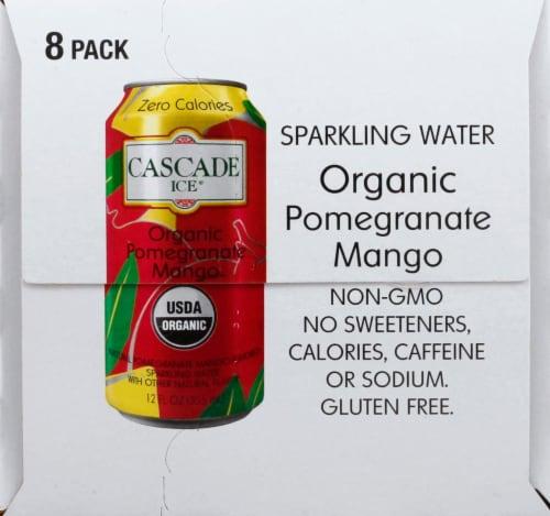 Cascade Ice Organic Pomegranate Mango Sparkling Water Perspective: left