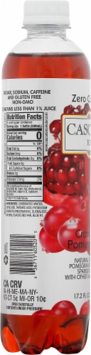 Cascade Ice Cranberry Pomegranate Flavored Sparkling Water Perspective: left