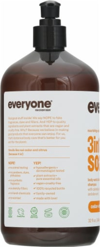 Everyone® Men's 3in1 Cedar Citrus Soap Perspective: left