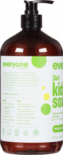 Everyone 3 in 1 Tropical Coconut Kids Soap Perspective: left