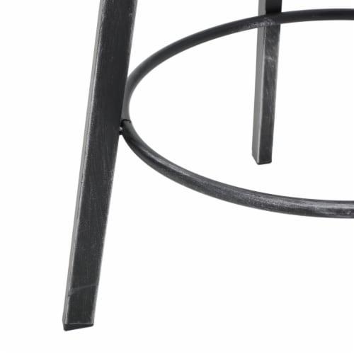 Jutte Black Brush Silver Firwood Smooth Back Adjustable Bar Stool Perspective: left