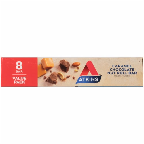 Atkins Caramel Chocolate Nut Roll Value Pack Perspective: left
