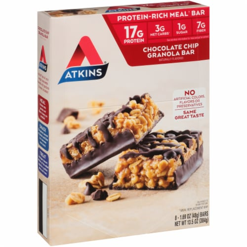 Atkins® Chocolate Chip Granola Meal Bars Perspective: left