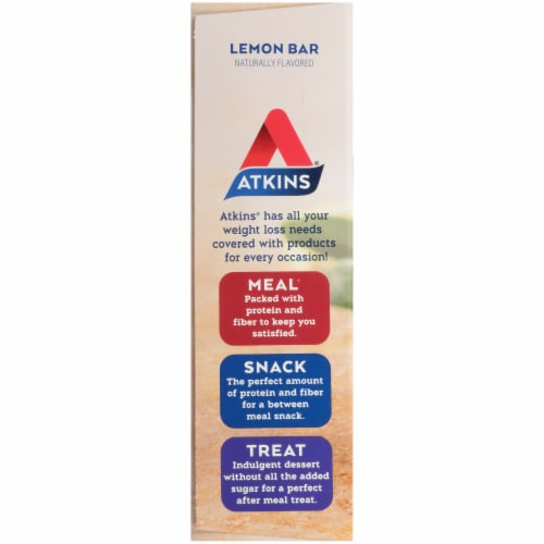 Atkins Lemon Snack Bars 5 Count Perspective: left