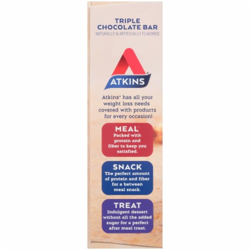 Atkins® Triple Chocolate Snack Bars Perspective: left