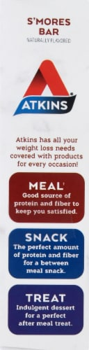 Atkins S'mores Protein Meal Bars 5 Count Perspective: left