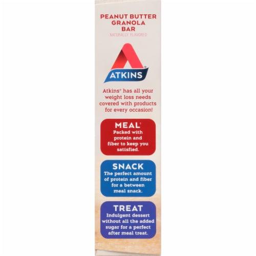 Atkins Advantage Peanut Butter Granola Bars Perspective: left