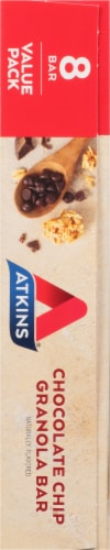 Atkins Chocolate Chip Granola Bars Perspective: left
