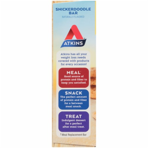 Atkins Snickerdoodle Snack Bars Perspective: left