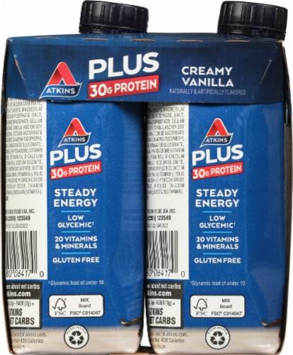 Atkins Plus Protein & Fiber Creamy Vanilla Shake Perspective: left