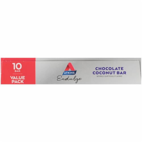 Atkins Endulge Chocolate Coconut Treat Bars Perspective: left